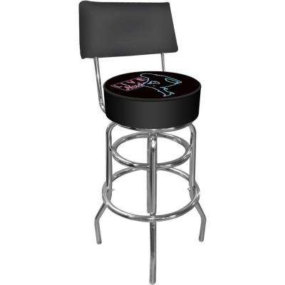 Shadow Babes D Series 30 in. Chrome Swivel Cushioned Bar Stool