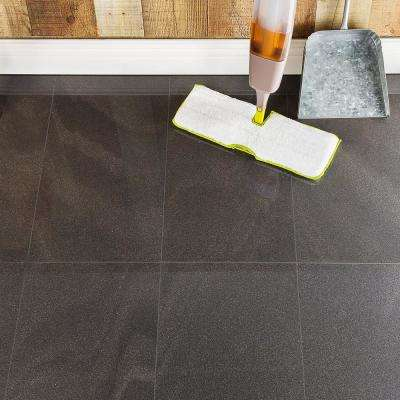 Standard Stone Black 12 in. x 24 in. x 9.5mm Polished Porcelain Floor and Wall Tile (8 pieces / 15.49 sq. ft. / box)