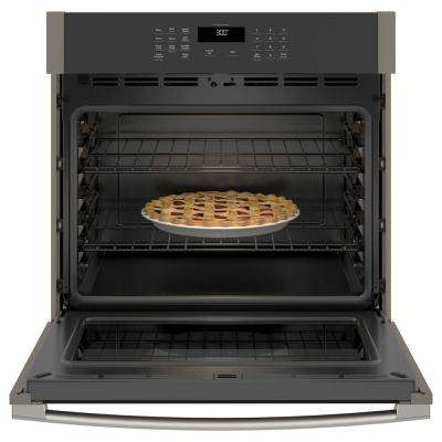 30 in. Smart Single Electric Wall Oven Self-Cleaning in Slate, Fingerprint Resistant