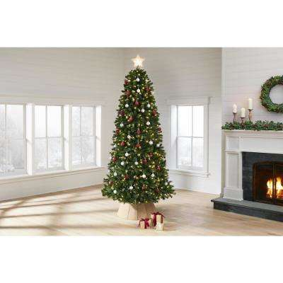 7.5 ft Wesley Long Needle Pine LED Pre-Lit Artificial Christmas Tree with 550 Color Changing Lights