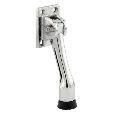 Drop-Down 4-Hole Chrome Plated Heavy Duty Diecast Door Stop