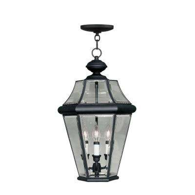 Providence 3-Light Outdoor Black Incandescent Pendant