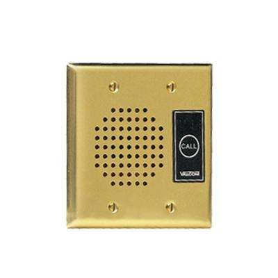 IP Intercom - Durable Flush Mount Brass Plate with Call Button and LED