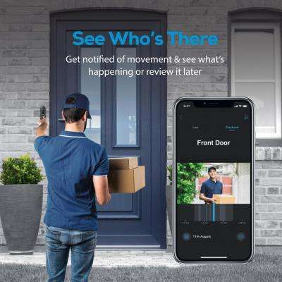 Wireless Video Door Bell with Night Vision in Black