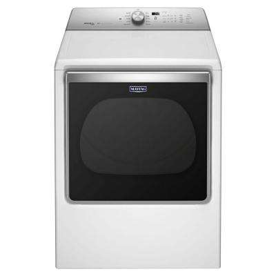 8.8 cu. ft. Gas Dryer with Steam in White