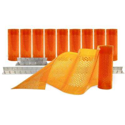 AirStream Insect Barrier 5 ft. x 8 ft. Amber PVC Strip Door Kit
