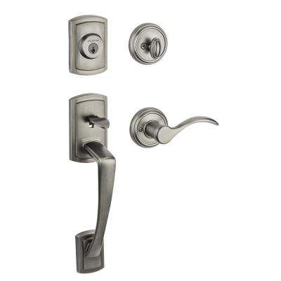 Prestige Nautica Single Cylinder Slate Handleset with Tobin Lever featuring SmartKey