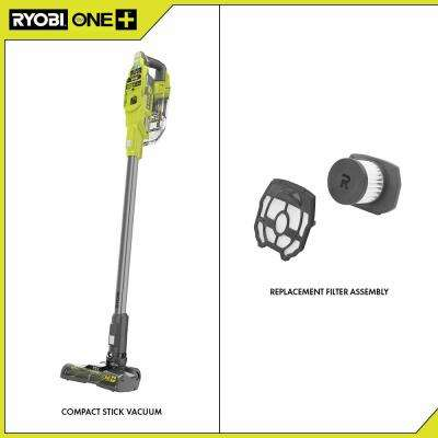ONE+ 18V Cordless Compact Stick Vacuum Cleaner (Tool Only) with Replacement Filter Assembly