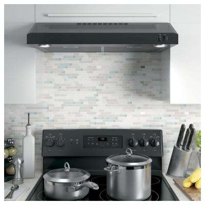 30 in. Over the Range Convertible Range Hood in Black, ENERGY STAR