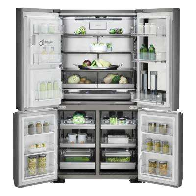 30.8 cu. ft. French Door Smart Refrigerator with InstaView Door-in-Door and WiFi Enabled in Stainless Steel