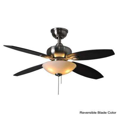 Everstar II 44 in. Indoor Brushed Nickel Ceiling Fan with Light Kit