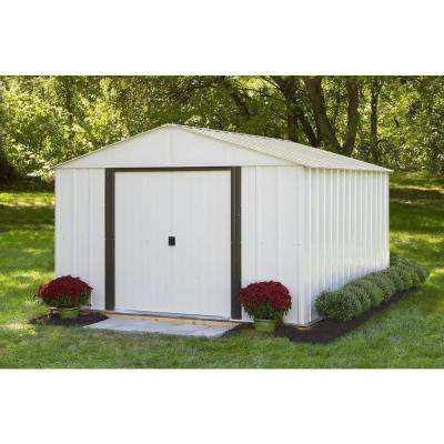 Murryhill 12 ft. W x 24 ft. D White Vinyl-Coated Metal Storage Shed