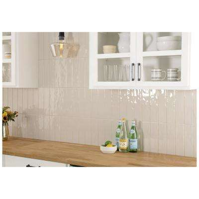 LuxeCraft Taupe 3 in. x 12 in. Glazed Ceramic Wall Tile (12 sq. ft. / case)
