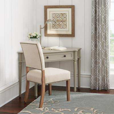 Ingrid Corner Desk in Rubbed Grey