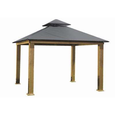 12 ft. x 12 ft. ACACIA Aluminum Gazebo with Storm Gray Canopy