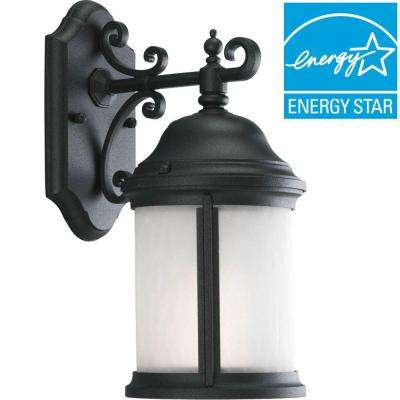 Ashmore Collection Black Outdoor Wall Mount Lantern