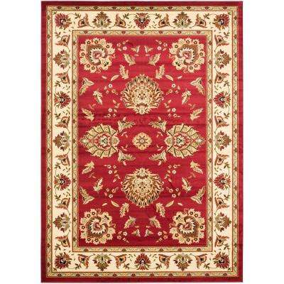Lyndhurst Red/Ivory 8 ft. 9 in. x 12 ft. Area Rug