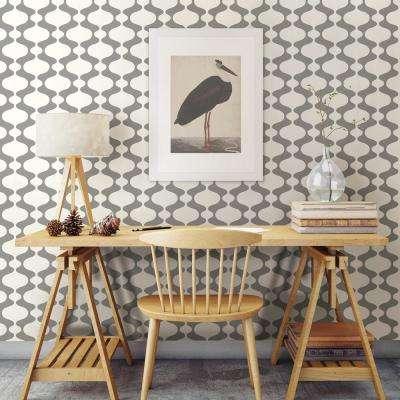56.4 sq. ft. Emilio Grey Retro Wallpaper