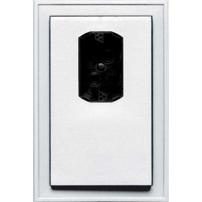 8.125 in. x 12 in. #001 White Jumbo Electrical Mounting Block Offset