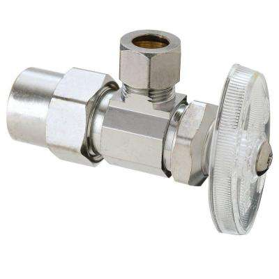 1/2 in. Nominal CPVC Inlet x 3/8 in. O.D. Compression Outlet Multi-Turn Angle Valve