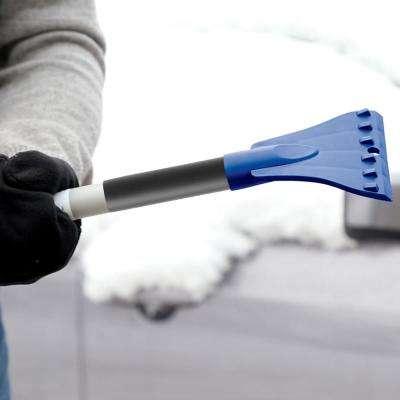 19 in. Telescoping Jumbo Snow Broom with Ice Scraper