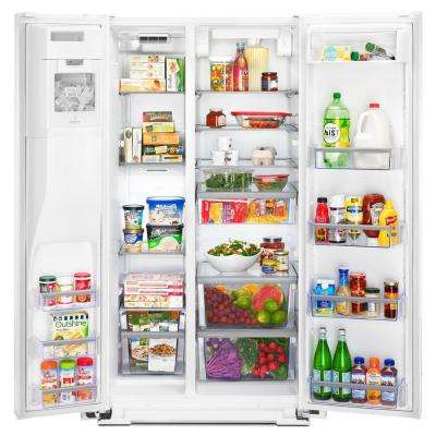 26 cu. ft. Side by Side Refrigerator in White
