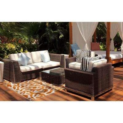 Patio Brights Coral Tangerine 8 ft. x 10 ft. Indoor/Outdoor Area Rug