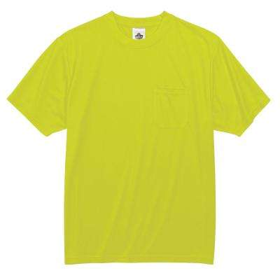 GloWear Men's Lime Polyester Short Sleeve Safety Shirt