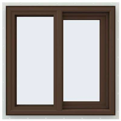 23.5 in. x 23.5 in. V-4500 Series Right-Hand Sliding Vinyl Window - Brown