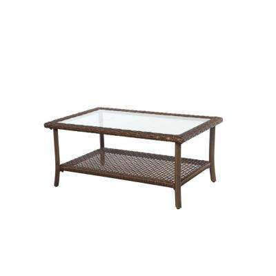 Bloomfield 40 in. Woven Patio Coffee Table
