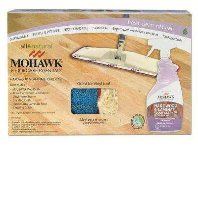 Hardwood and Laminate Care Kit with Wet and Dust Mop