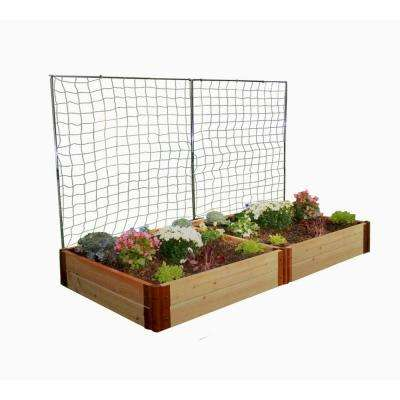 Two Inch Series 4 ft. x 8 ft. x 12 in. Cedar Raised Garden Bed Kit with 2 Veggie Walls
