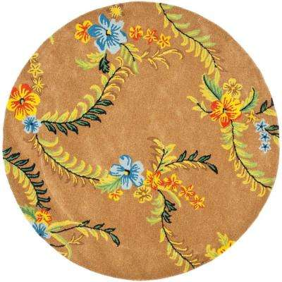 Soho Brown/Multi 6 ft. x 6 ft. Round Area Rug