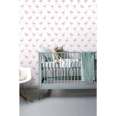 Lovett Pink Flamingo Paper Strippable Wallpaper (Covers 56.4 sq. ft.)