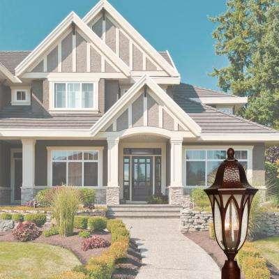 Berkshire 3-Light Burnished Antique Copper Outdoor Post Lantern
