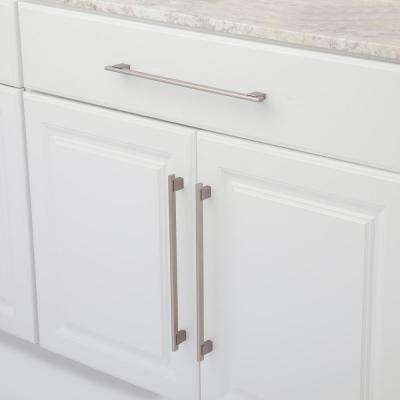 12-5/8 in. (320 mm) Center-to-Center Brushed Nickel Contemporary Drawer Pull