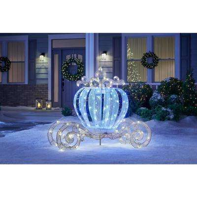 Spirited Sparkle 5 ft. LED Lighted Twinkling Carriage