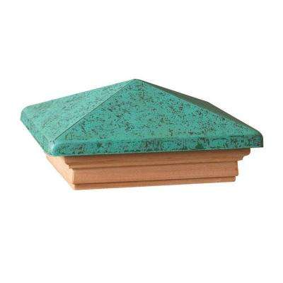 4 in. x 4 in. Western Red Cedar Patina Pyramid Post Cap