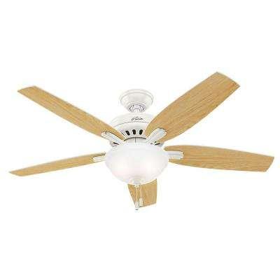 Newsome 52 in. Indoor Fresh White Bowl Light Kit Ceiling Fan