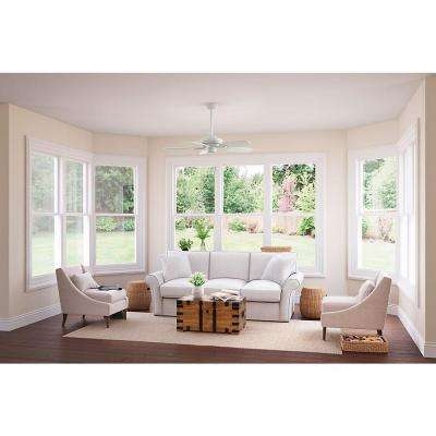 Fordham 44 in. Cottage White Indoor Ceiling Fan