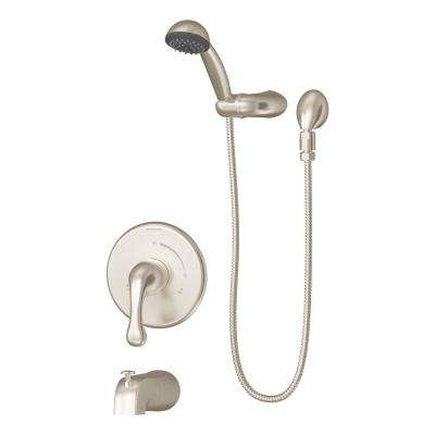 Unity 1-Handle Tub and Shower Faucet Trim Kit in Satin Nickel (Valve Not Included)