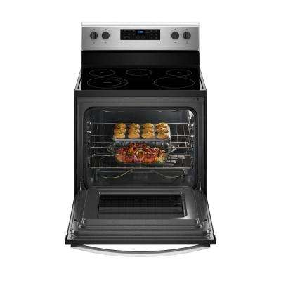 5.3 cu. ft. Electric Range with Steam Clean and 5 Elements in Stainless Steel