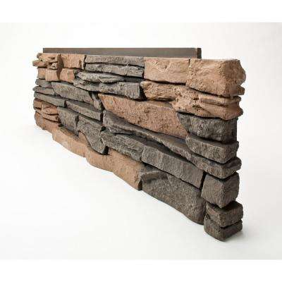 Stacked Stone Stratford 12 in. x 38 in. Faux Stone Siding Corner Panel Right (8-Pack)