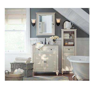 Hamilton 31 in. W x 22 in. D Bath Vanity in Grey with Granite Vanity Top in Grey