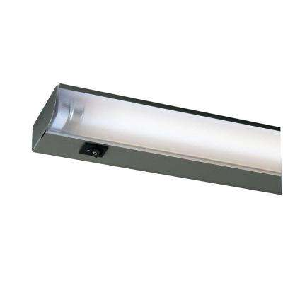 22 in. Silver Fluorescent Under Cabinet Economy Fixture