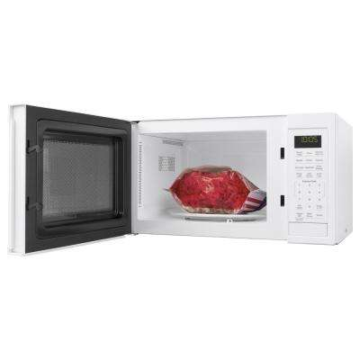 0.9 cu. ft. Smart Countertop Microwave Oven in White with Scan-To-Cook Technology and Wifi