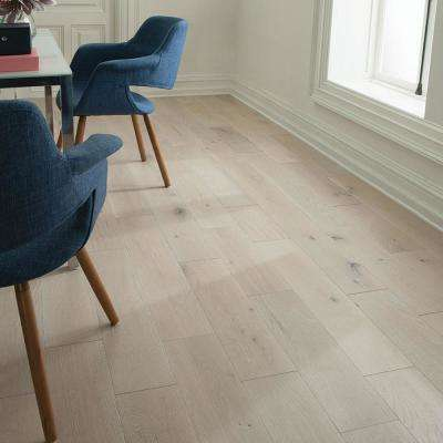 Castlebury French Linen Eurosawn White Oak 1/2 in. T x 7 in. W x Random Length Eng Hardwood Flooring (31 sq. ft. / case)