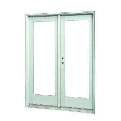 72 in. x 80 in.White Full Lite Prehung Left-Hand Inswing Patio Door
