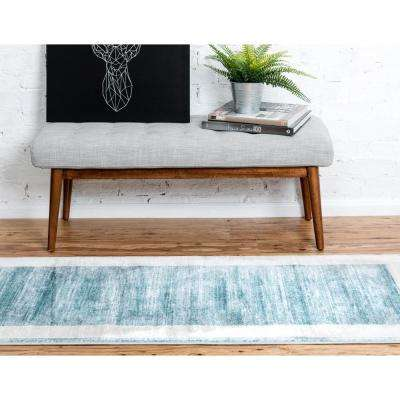 Uptown Collection by Jill Zarin™ Yorkville Turquoise 2' 2 x 6' 0 Runner Rug