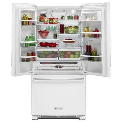 22.1 cu. ft. French Door Refrigerator in White with Interior Dispenser